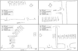 Site Supervisor's Sketches of Site Layouts
