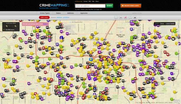 Planning a Vegas vacation? Check out a crime map before booking your hotel.